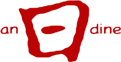 Red logo of the website anødine.org