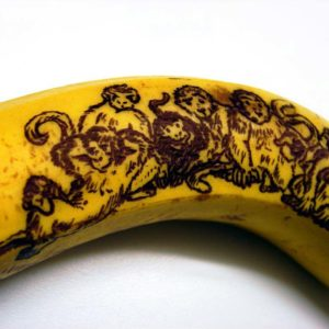 Singes sur une banane
